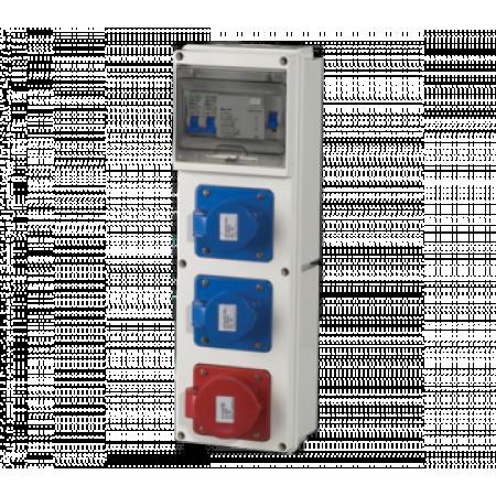 TABLOU DE DISTRIBUTIE   EDB 100401 CU 3PRIZE  16A  1P+N+E