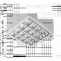 LAMPA IND GALA ELECTRONIC BALLAST 4X18W APARENTA