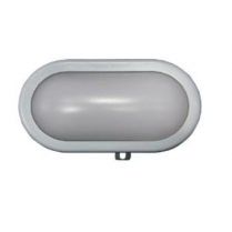 LAMPA BAT CU LED APLICAT 9W IP44 230V GRI