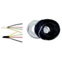 Cablu telefonic plat 2 perechi negru