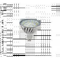 BEC CU LED LED 18SMD 4W GU5.3 12V  CW