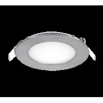 LED PANEL ROTUND 8W 4000K-4300K SATIN NICHEL Ф120MM