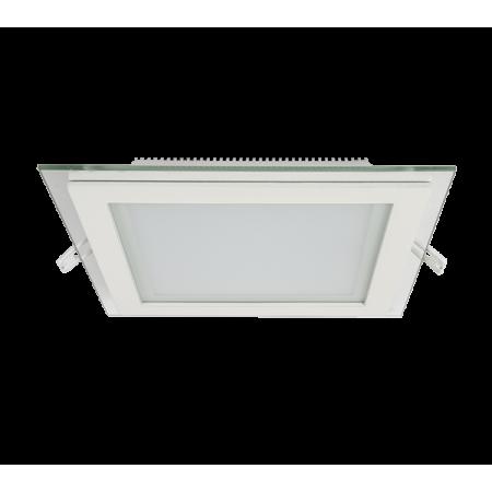 LED PANEL DE STICLA PATRAT 18W 2700K-3000K ALB 200MM/200MM