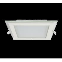 LED PANEL DE STICLA PATRAT 18W 4000K-4300K ALB 200MM/200MM