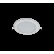 LED PANEL DE STICLA ROTUND 18W 2700K-3000K ALB Ф200MM