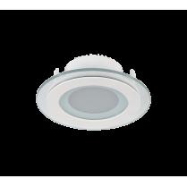 LED PANEL DE STICLA ROTUND 6W 4000K-4300K ALB Ф100MM