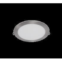 LED PANEL ROTUND 21W 2700K-3000K SATIN NICHEL Ф235MM