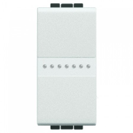 Intrerupator axial cap scara 1 modul 16A Alb Bticino Living Light