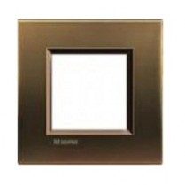 Placa ornament 2 module metal Bronz Bticino Living Light
