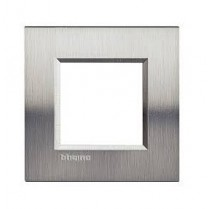 Placa ornament 2 module Otel Lucios Bticino Living Light