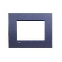 Placa ornament 3 module Violet Bticino Living Light