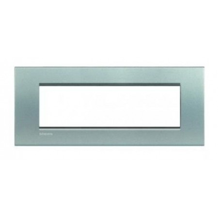 Placa ornament 7 module Argintiu Bticino Living Light