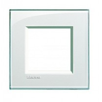 Placa ornament 2 module Aquamarine Bticino Living Light