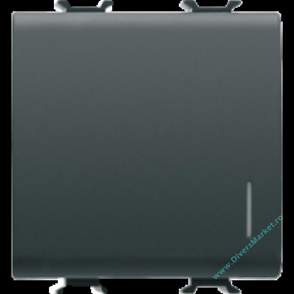 intrerupator 2m cu led 16a gewiss chorus negru gw12032. Black Bedroom Furniture Sets. Home Design Ideas