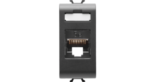 priza de date ftp cat 6 gewiss chorus negru gw12424. Black Bedroom Furniture Sets. Home Design Ideas