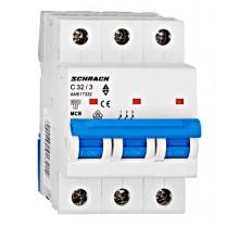 Întreruptor automat modular (MCB) AMPARO 6kA, C 32A, 3-poli