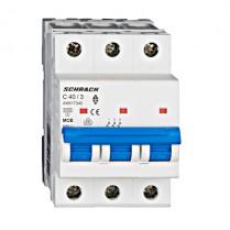 Întreruptor automat modular (MCB) AMPARO 6kA, C 40A, 3-poli