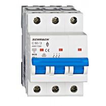 Întreruptor automat modular (MCB) AMPARO 6kA, C 50A, 3-poli