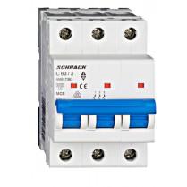 Întreruptor automat modular (MCB) AMPARO 6kA, C 63A, 3-poli
