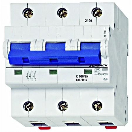 Intreruptor automat C 100A, 4 poli, 10kA