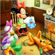 Puzzle magnetic Minnie si Pluto