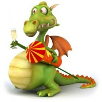 Tapet autocolant -Funny New Year Dragon 01 Best Decor - 150X150cm